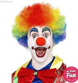 Smiffys Rainbow Crazy Clown Wig