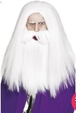 Smiffys Magician Set with White Wig & Beard
