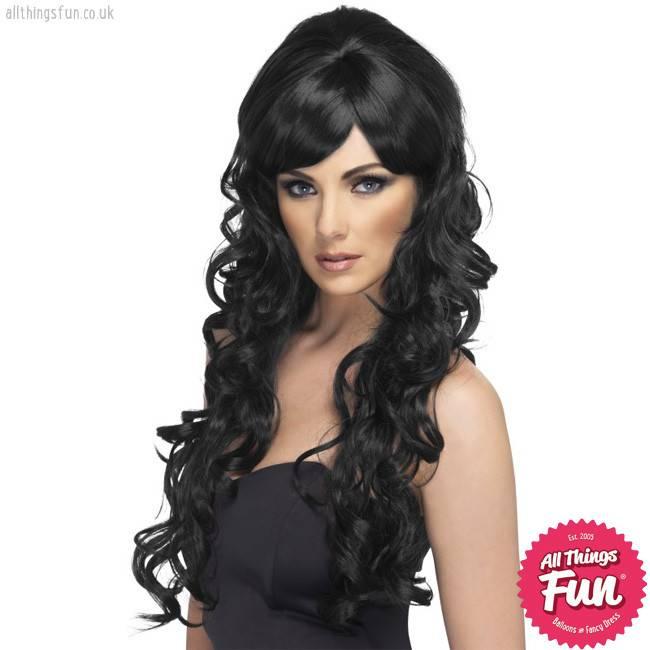 Smiffys Black Pop Starlet Wig