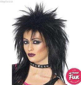 Smiffys Black Rock Diva Wig