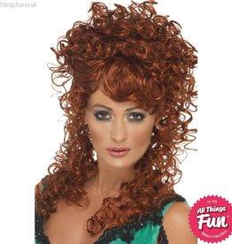Smiffys Auburn Saloon Girl Wig