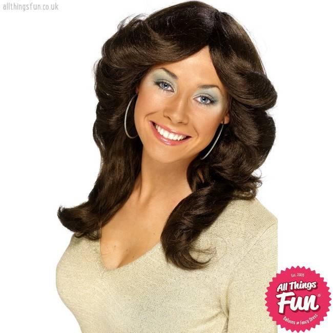 Smiffys Brown 70's Flick Wig