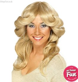 Smiffys Blonde 70's Flick Wig