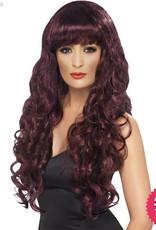 Smiffys Maroon Siren Wig