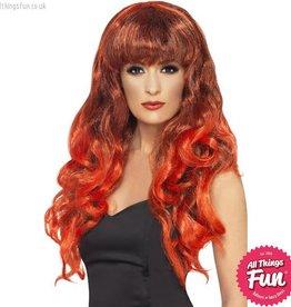 Smiffys Red Siren Wig