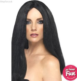 Smiffys Black Star Style Wig