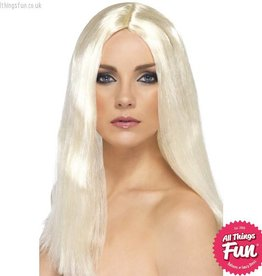 Smiffys Blonde Star Style Wig