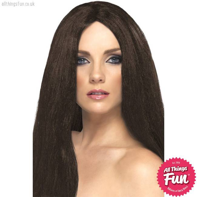 Smiffys Brown Star Style Wig