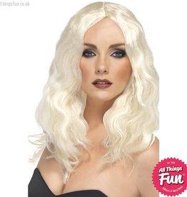Smiffys Platinum Blonde Superstar Wig