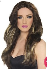Smiffys Brown Temptress Wig Brown
