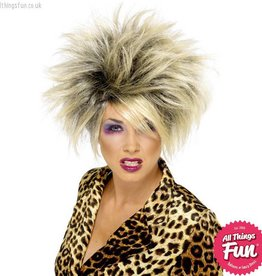 Smiffys *DISC* Blonde Wild Girl Wig