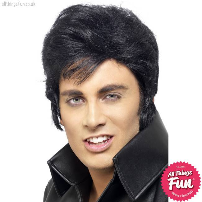 Smiffys Black Elvis Wig