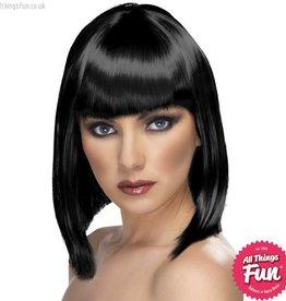 Smiffys Black Glam Wig