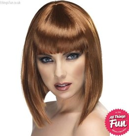 Smiffys Brown Glam Wig