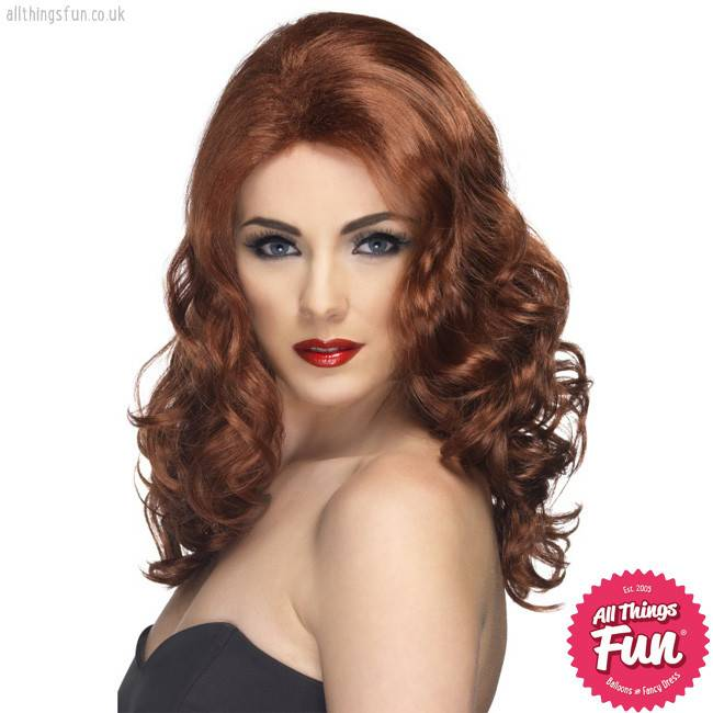 Smiffys Auburn Glamorous Wig