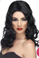 Smiffys Black Glamorous Wig