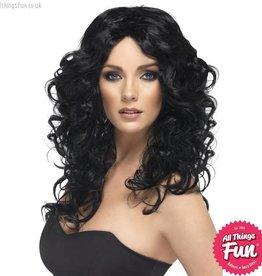 Smiffys Black Glamour Wig