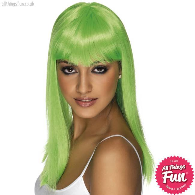 Smiffys Neon Green Glamourama Wig