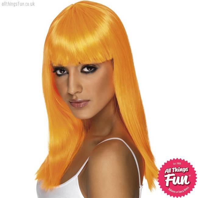 Smiffys Neon Orange Glamourama Wig