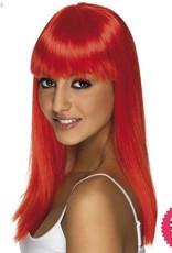 Smiffys Neon Red Glamourama Wig
