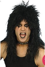 Smiffys Black Hard Rocker Wig