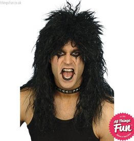 Smiffys Black Hard Rocker Wig