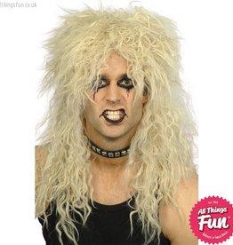 Smiffys Blonde Hard Rocker Wig