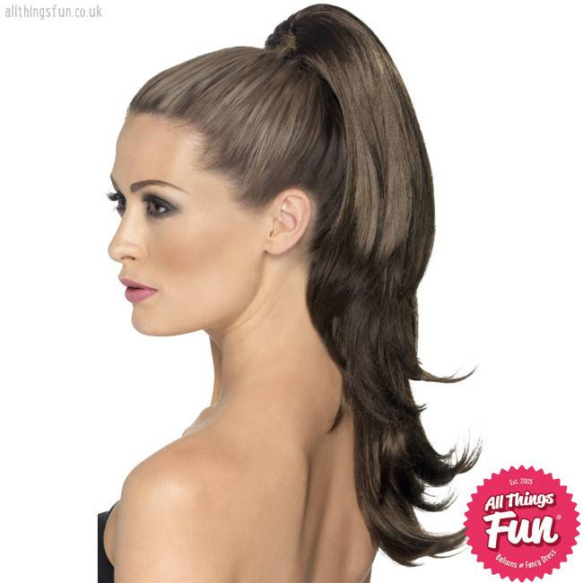 Smiffys *DISC* Brown Wavy Divinity Hair Extension