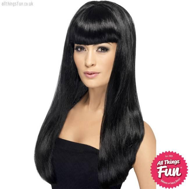 Smiffys Black Babelicious Wig