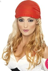Smiffys *DISC* Blonde Pirate Princess Wig with Bandana