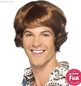 Smiffys *DISC* Disco Light Brown Mullet Wig