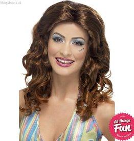 Smiffys *DISC* Brown Dancing Queen Wig