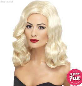 Smiffys 20's Blonde Luscious Long Wig