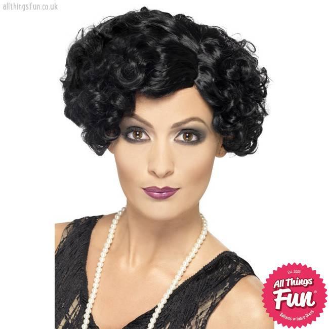 Smiffys 20's Black Flirty Flapper Wig