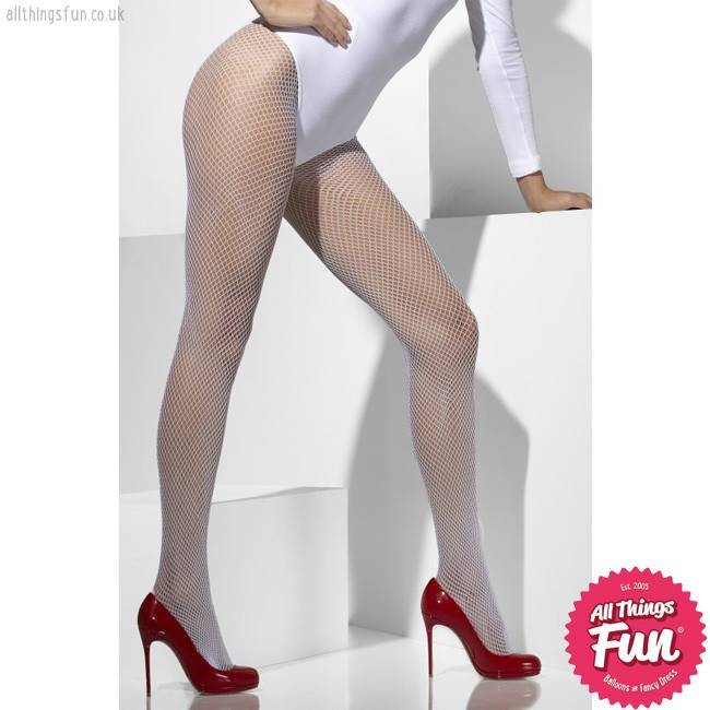 1fc4392ab663c Smiffys White Fishnet Tights - All Things Fun - Balloons & Fancy Dress