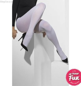 Smiffys White Opaque Tights