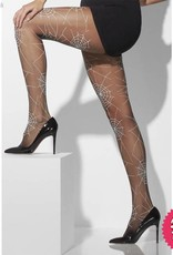 Smiffys Black Spiderweb Print Tights