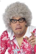 Smiffys Grey Granny Perm Wig