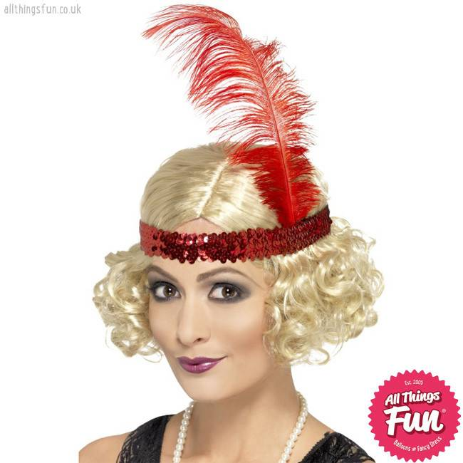 Smiffys Blonde Charleston Wig with Sequin Headband