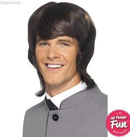 Smiffys 60's Brown Male Mod Wig