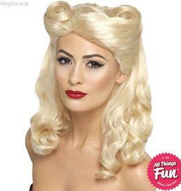 Smiffys 40's Blonde Pin Up Wig