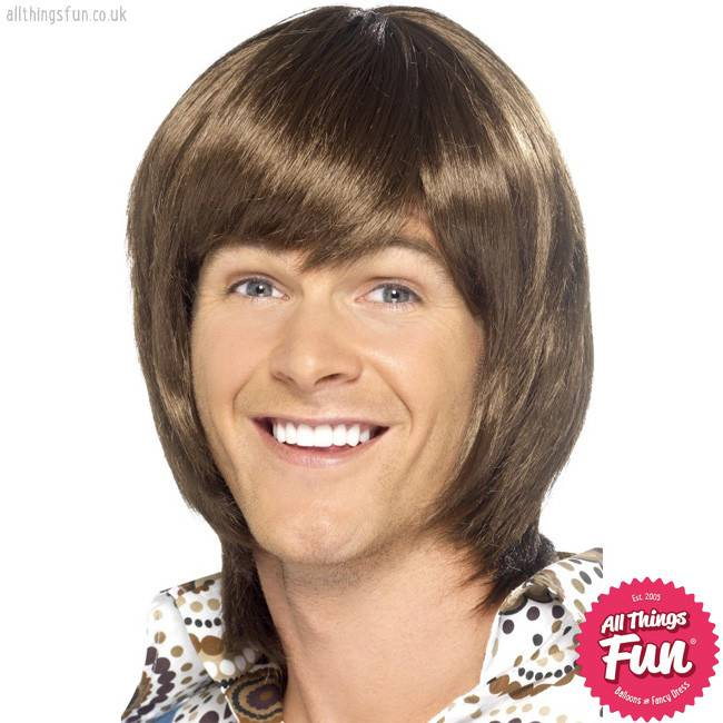 Smiffys 70's Heartthrob Brown Wig