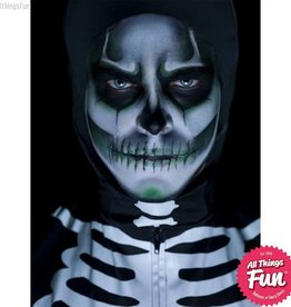 Smiffys *SP* Glow in the Dark Skeleton Make Up Kit with Paints, Cream, Crayon & Sponge