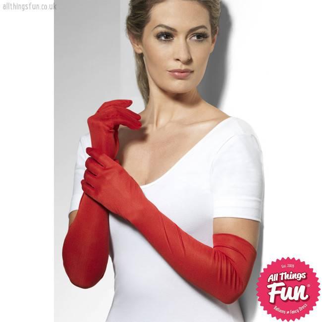 Smiffys Long Red Gloves