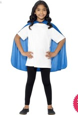 Smiffys Blue Cape Mid Length