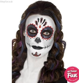 Smiffys *SP* Day of the Dead Make Up Kit with Face Paints