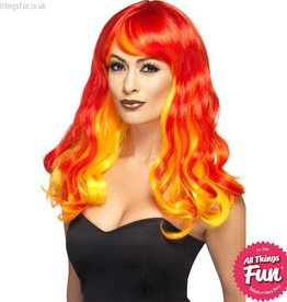 Smiffys Ombre Red Devil Flame Wig
