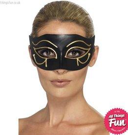 Smiffys Egyptian Black & Gold Eye of Horus Eyemask