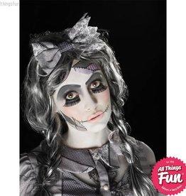 Smiffys *SP* Damaged Doll Make-Up Kit with Paints, Lashes, Sponge & Brush
