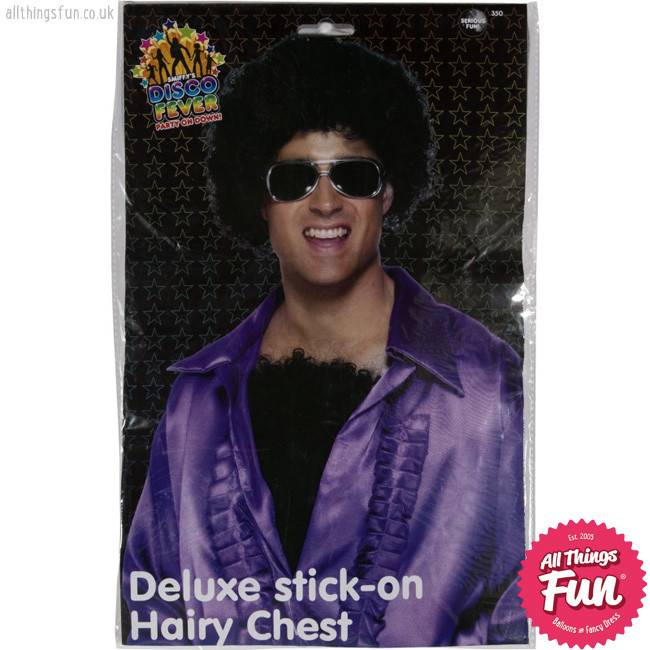 Smiffys Deluxe Black Hairy Chest